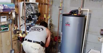 hot water heater and boiler